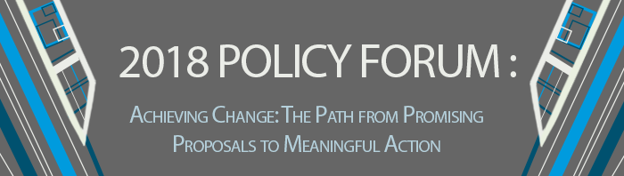 2018 Policy Forum - Achieving Change - banner