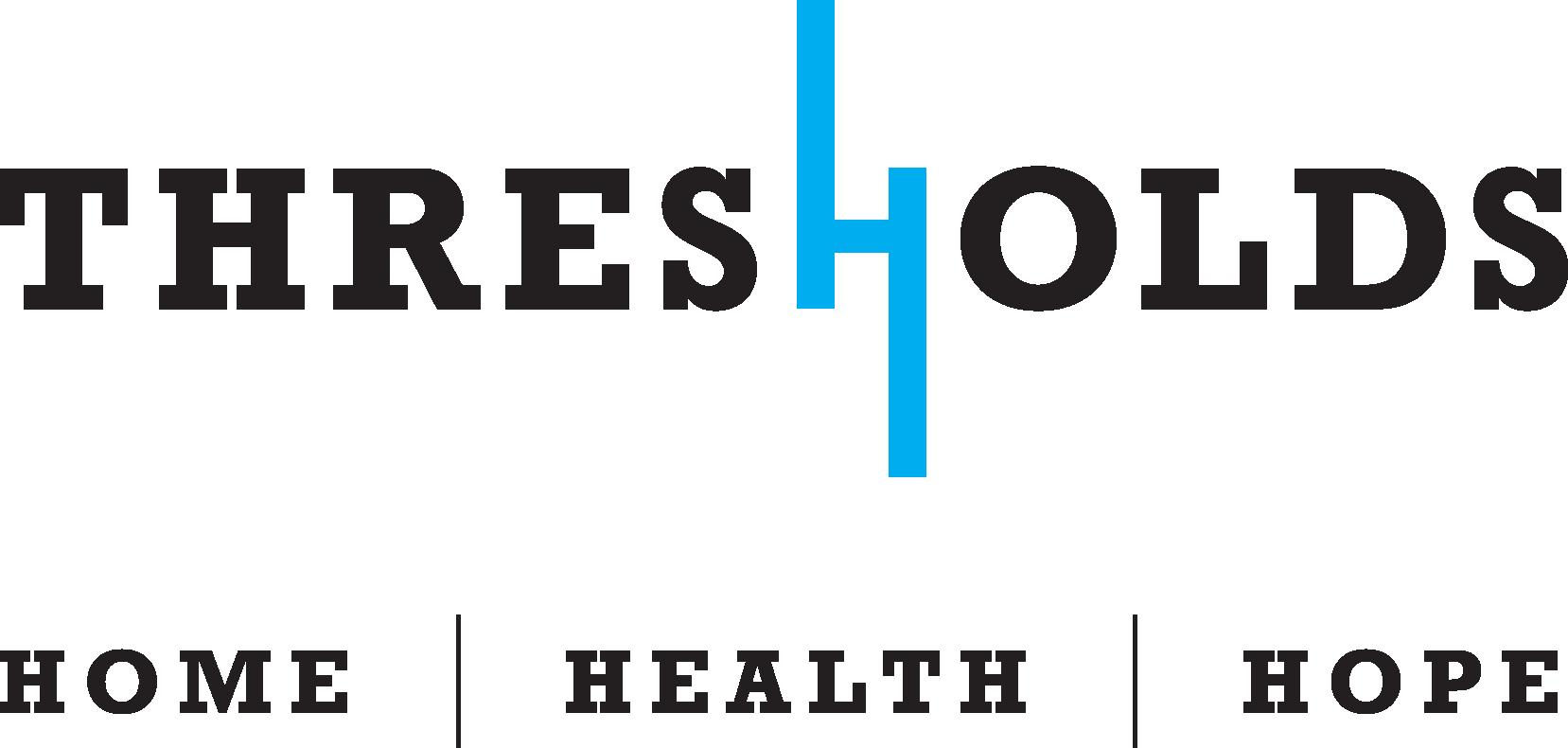 Thresholds logo not background